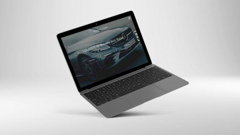 mercedes benz malmö, dator, webb design