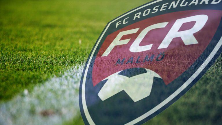 fc rosengård, gräsplan, 3d design fcr röd emblem