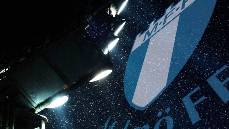malmö ff, stadion, 3d design blå emblem